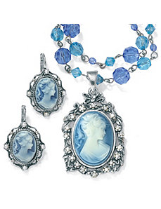 2-Piece Cameo Jewelry Set by PalmBeach Jewelry