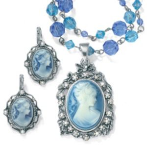 2-Piece Cameo Jewelry Set