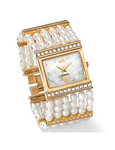 "Pearl Watch 7 1/2""-8 1/2"" by PalmBeach Jewelry"