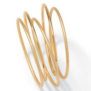 5-Piece Goldtone Bangle Set 9""