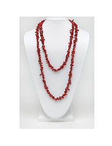 "Coral Nugget Necklace 54"" by PalmBeach Jewelry"