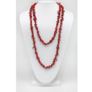 Coral Nugget Necklace 54""
