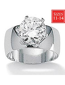 Roundcubic zirconia Solitaire Ring by PalmBeach Jewelry