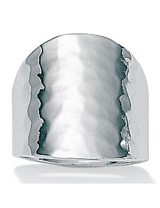 Hammered-Style Silver Ring by PalmBeach Jewelry