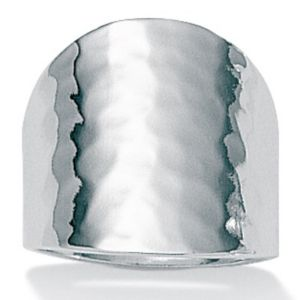 Hammered-Style Silver Ring