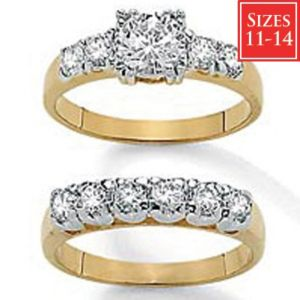 2-Piececubic zirconia Bridal Set