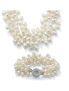 2-Piece Cultured Pearl Set by PalmBeach Jewelry