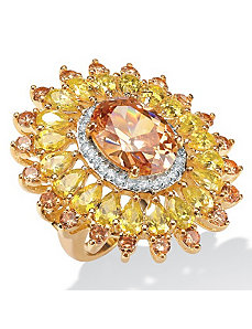 Champagne/Yellow/Whitecubic zirconia Ring by PalmBeach Jewelry