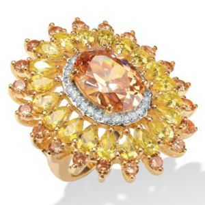 Champagne/Yellow/Whitecubic zirconia Ring