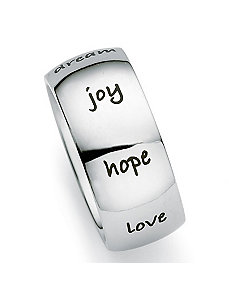 Stainless Inspirational Band by PalmBeach Jewelry
