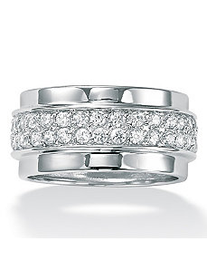 Cubic Zirconia Eternity Band by PalmBeach Jewelry