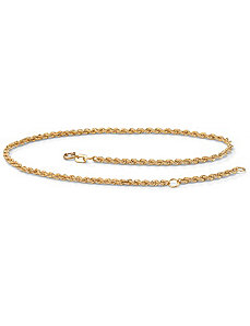 Rope 10k Gold Ankle Bracelet by PalmBeach Jewelry