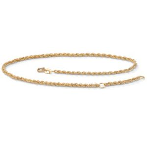Rope 10k Gold Ankle Bracelet