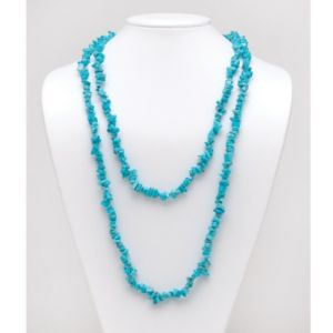 Turquoise Nugget Necklace 54""