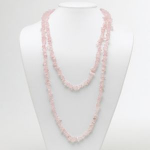 Rose Quartz Nugget Necklace 54""
