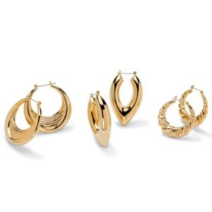 3-Piece Hoop Earring Set