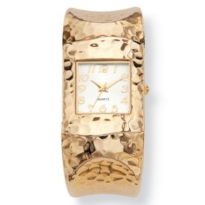 Hammered-style Cuff Watch 7 3/4""