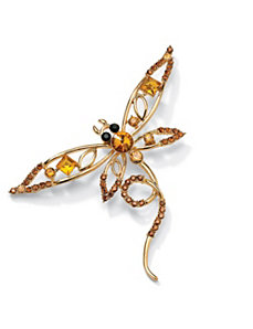 Multi-Crystal Butterfly Pin by PalmBeach Jewelry