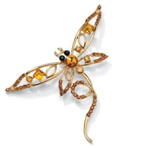 Multi-Crystal Butterfly Pin