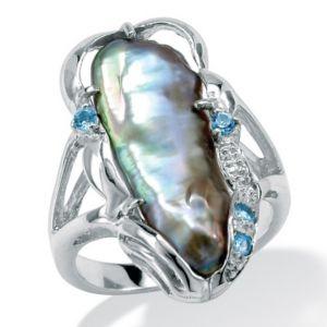 Biwa Pearl Silver Ring