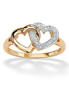Diamond Acc. 10k Heart Ring by PalmBeach Jewelry