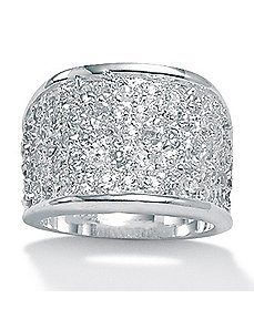 DiamonUltra™ Cubic Zirconia Ring by PalmBeach Jewelry