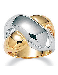 Tutone Crossover Ring by PalmBeach Jewelry