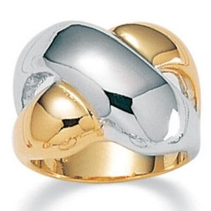 Tutone Crossover Ring