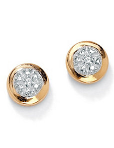 Diamond Accent Cluster Earrings by PalmBeach Jewelry