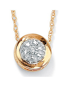 Diamond Accented Slide Pendant by PalmBeach Jewelry