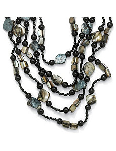 Multi-Strand Beaded Necklace by PalmBeach Jewelry