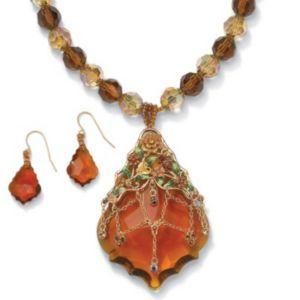 2-Piece Crystal Jewelry Set