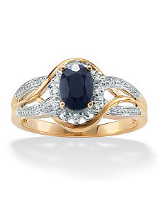 Blue Sapphire 10k Gold Ring by PalmBeach Jewelry
