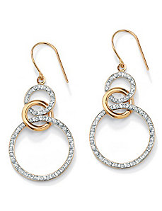 Diamond Fascination Earrings by PalmBeach Jewelry