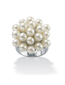 Cultured Pearl Cluster Ring by PalmBeach Jewelry