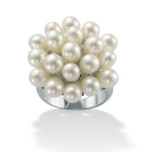 Cultured Pearl Cluster Ring