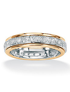 Diamond 10k Gold Spinner Band by PalmBeach Jewelry