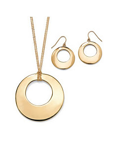 2-Piece Disk Jewelry Set by PalmBeach Jewelry