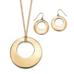 2-Piece Disk Jewelry Set