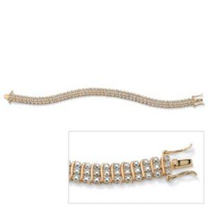 "Diamond Acc. 18k/SS Bracelet 8"""