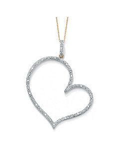 Diamond 10k Gold Heart Pendant by PalmBeach Jewelry