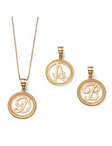 14k Gold Initial Pendant by PalmBeach Jewelry