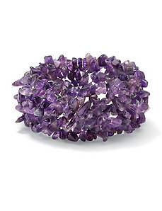Amethyst Nugget Stretch Bracelet by PalmBeach Jewelry