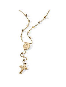 Rosary Bead Necklace by PalmBeach Jewelry