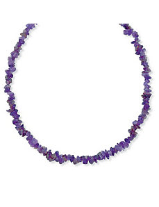 "Amethyst Nugget Necklace 54"" by PalmBeach Jewelry"