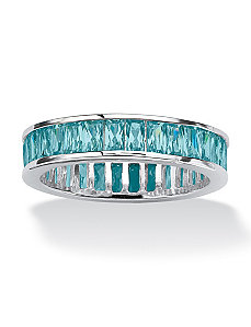 Birthstone Sterling Silver Band by PalmBeach Jewelry