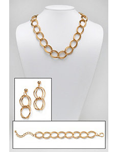 Curb-Link Jewelry Set by PalmBeach Jewelry