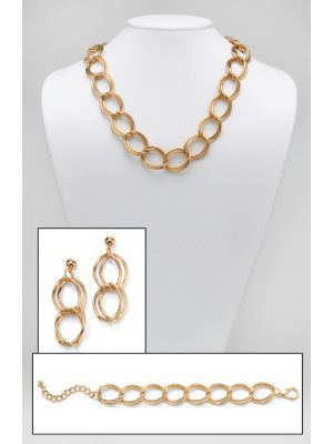Curb-Link Jewelry Set