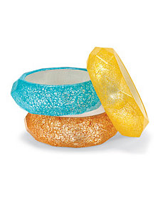 Set of Three Lucite Bracelets by PalmBeach Jewelry