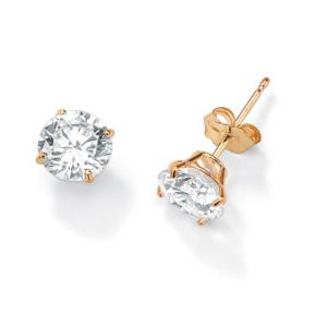 Roundcubic zirconia Stud Earrings